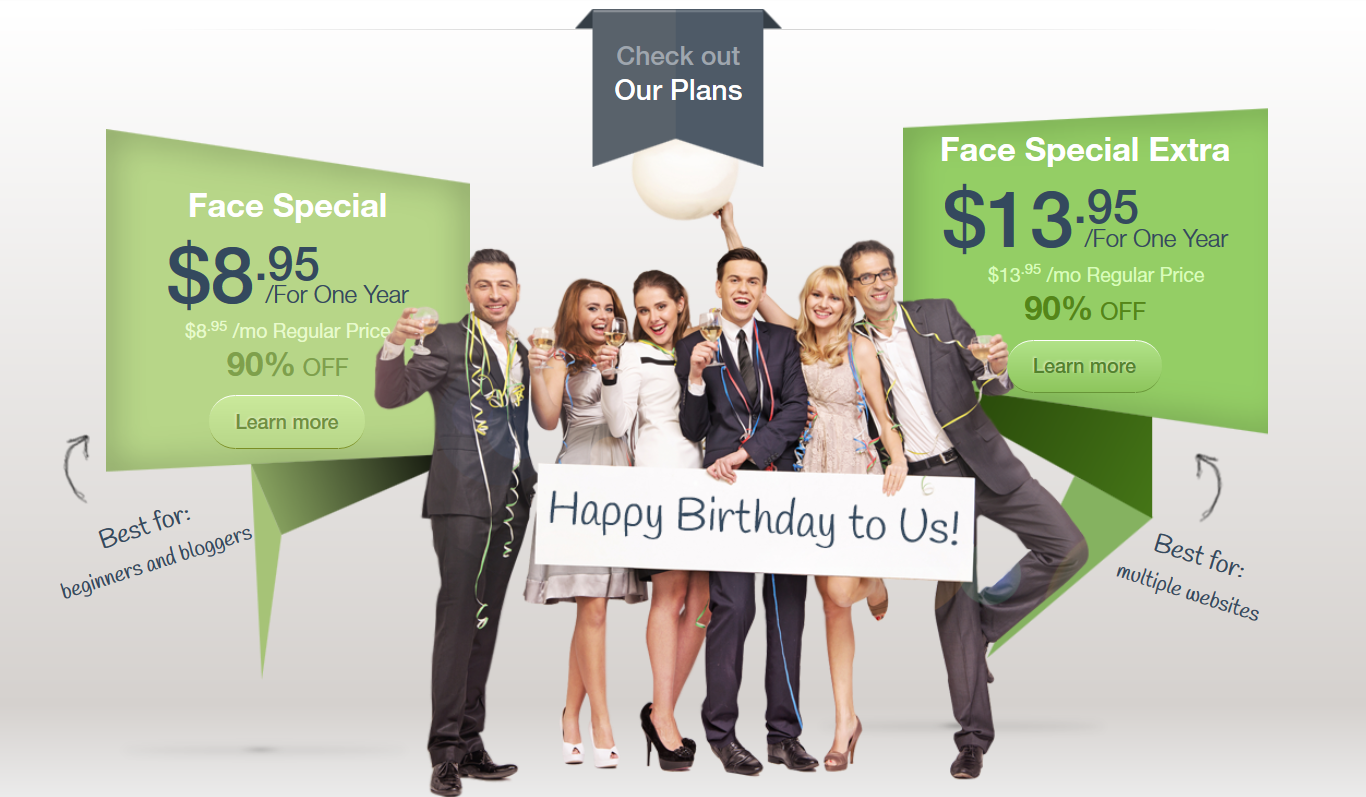 WebHostFace Birthday WebSite
